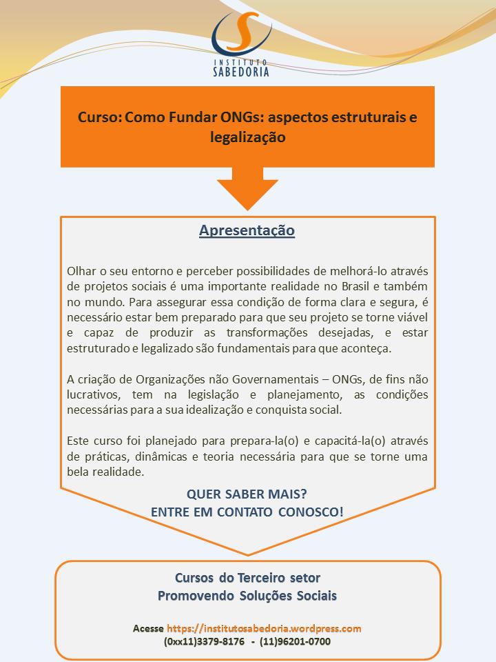 Matriz Laranja Curso Como Fundar Ongs