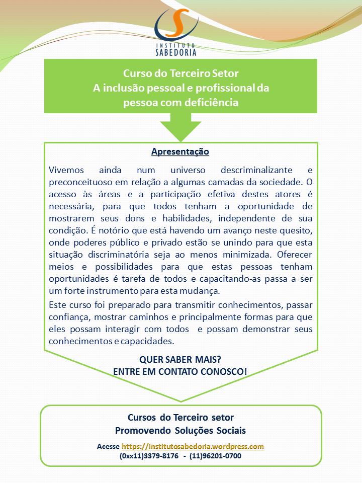 Matriz Verde Claro_Inclusão Social Pessoa com Deficiencia