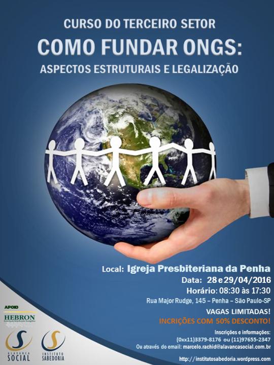 Cartaz Curso Fundar Ongs_Igreja Prebiteriana_SP_Abril16