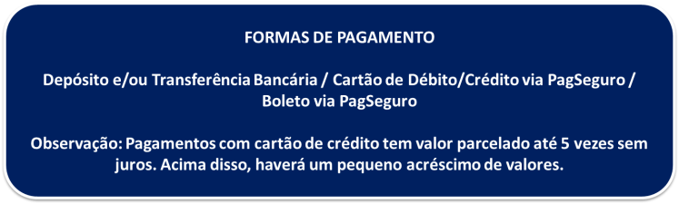 Texto formas de pagamento IPP